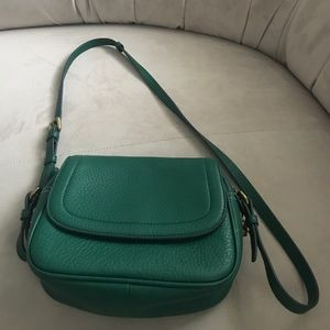 Jcrew crossbody bag jewel green color